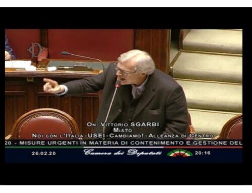 Mi associo all'appello di Sgarbi al Presidente della Repubblica